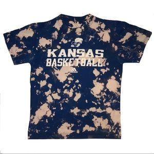 Hand bleached KU Basketball T-Shirt